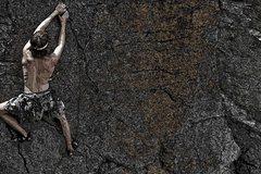 Rock Climbing Photo: Wellis on the start