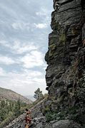 Rock Climbing Photo: The route, climber is off route though.