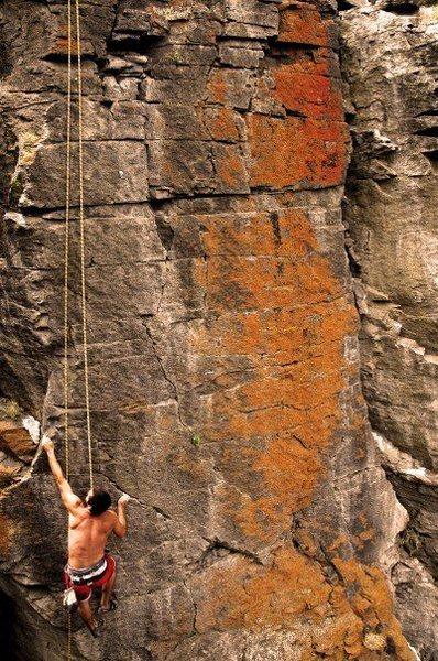 Rock Climbing Photo: 5.9 at Thomas