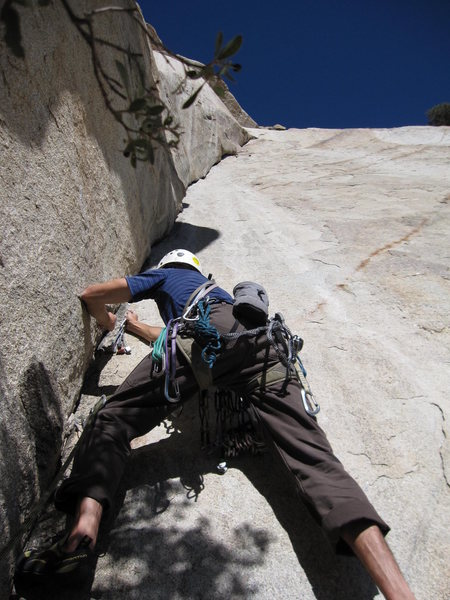 Rock Climbing Photo: Starting the 3rd pitch dihedral