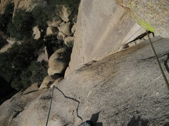 Rock Climbing Photo: After the great moves to turn the roof of the seco...