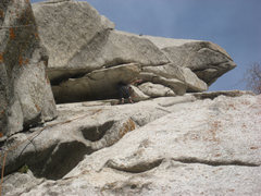 Rock Climbing Photo: Me milking a no-hands rest on the unknown slab/cra...
