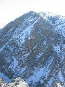 Rock Climbing Photo: Rough Topo of the alpine simulator. When entering ...