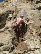 Rock Climbing Photo: Pulling left around the arête is the first hard m...