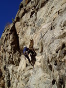 Rock Climbing Photo: This is much harder than it looks. Making the reac...