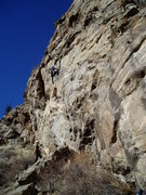 Rock Climbing Photo: Approaching the crux.