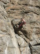 Rock Climbing Photo: The juggy and fun but contrived finish to the lowe...