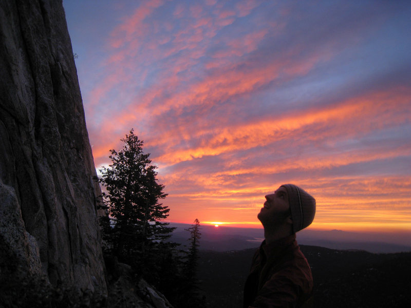 Rock Climbing Photo: Scoping Dave's Deviation and the left side as the ...