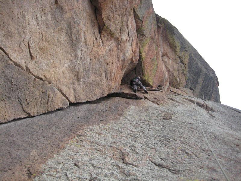 Rock Climbing Photo: Aaron Quinlisk just enjoyin the ride.