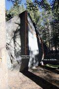 Rock Climbing Photo: The Campground Arete Topo