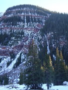 Rock Climbing Photo: Campground Col. mostly left variation visible in p...