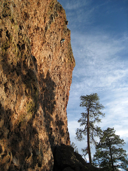 Rock Climbing Photo: Way up high on the route working through the crux ...