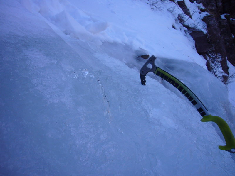 Poked a hole in the pirate ship on the Direct North Face on Nov. 22nd.  This is how warm it was.   Photo by Trask Bradbury.