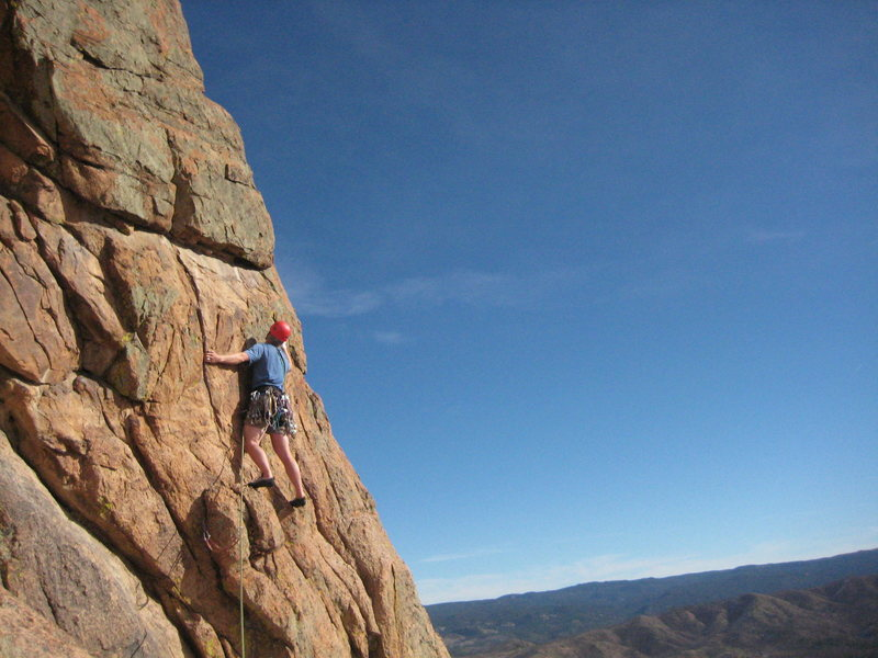 Rock Climbing Photo: If you wanna stay on route above the first pitch, ...