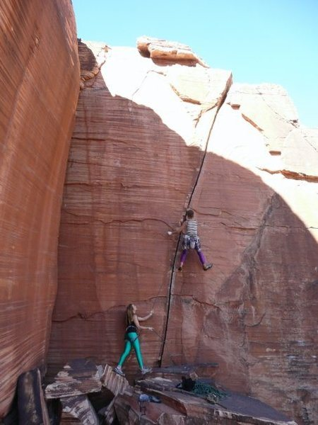 Rock Climbing Photo: leading Atman in style!