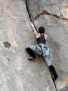 Rock Climbing Photo: Not so invisible while leading Invisibility Lesson...