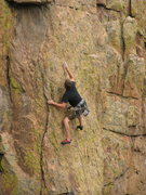Rock Climbing Photo: Making a move....