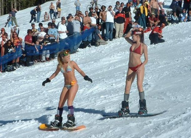 2008 Pond skimming championships at Vail. These two gathered some attention, I think.