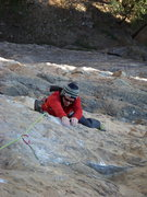 Rock Climbing Photo: The crux fourth pitch (5.12a) of The Horse and Pon...