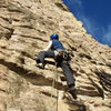 The first pitch (5.10a) of The Horse and Pony Show.