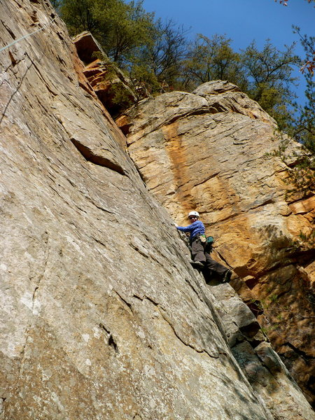 Johanna heading up The Sweep, T-Wall, TN.