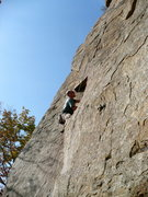 Rock Climbing Photo: The start of Super Slide, T-Wall, TN.