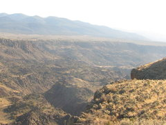 Rock Climbing Photo: View from the rim at the parking spot above the cr...