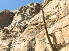 Rock Climbing Photo: Bob D. setting the route on another stellar Taos N...