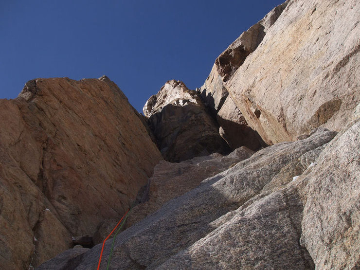 First pitch dihedral M4-ish, lots of heel/toe for mixed climbing.