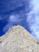 Rock Climbing Photo: The prow on P3, just before joining the Fin Arete....