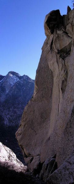 Rock Climbing Photo: The imposing dihedral of Gargoyle