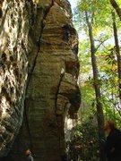 Rock Climbing Photo: Ben climbing Family Tradition 5.10, October '08.  ...