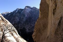 Rock Climbing Photo: Gargoyle gully scenery. You can see the anchors of...