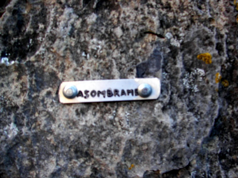 Rock Climbing Photo: Nameplate at the start of the climb - just to the ...