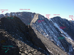 Rock Climbing Photo: This is the panorama to the west from the ridge be...
