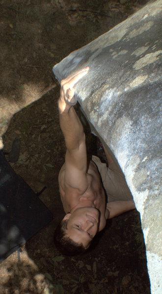 Rock Climbing Photo: Kyle riding the wave