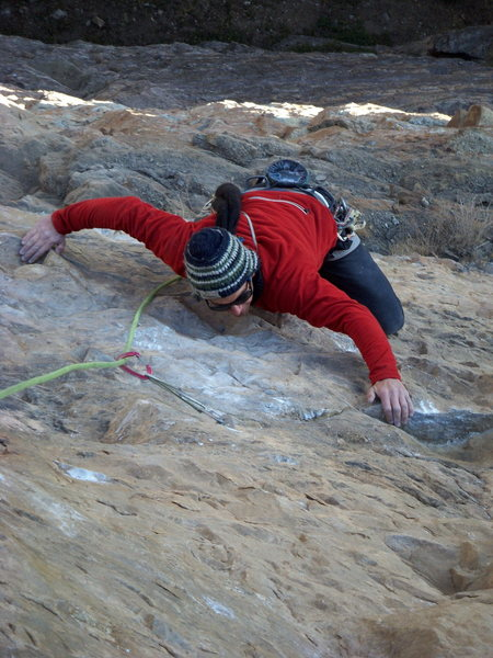Rock Climbing Photo: Pitch 4 (5.12a) of The Horse and Pony Show.