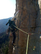 Rock Climbing Photo: Opening moves on P3.