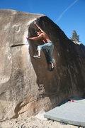 Rock Climbing Photo: Frank cruising through Feels Like Grit