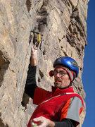 Rock Climbing Photo: Mike starting p2.