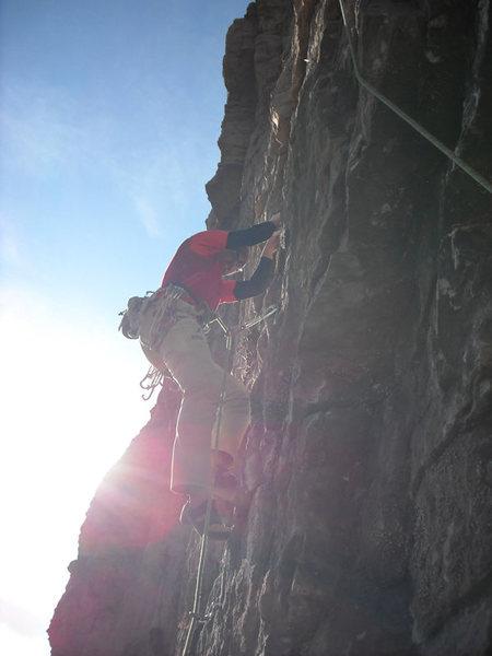 Rock Climbing Photo: Mike on p4.