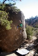 Rock Climbing Photo: Taylor enjoying the work of art that is Michelange...