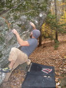 Rock Climbing Photo: dave cote working Randy Moss