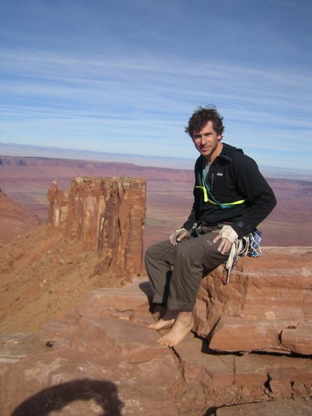 Rock Climbing Photo: top of castelton