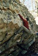 Rock Climbing Photo: Tom pulling the cruxy lip on Art of Vogi.