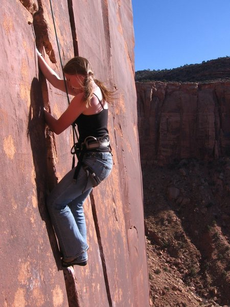 Rock Climbing Photo: I played photographer on this climb.  Friend of mi...