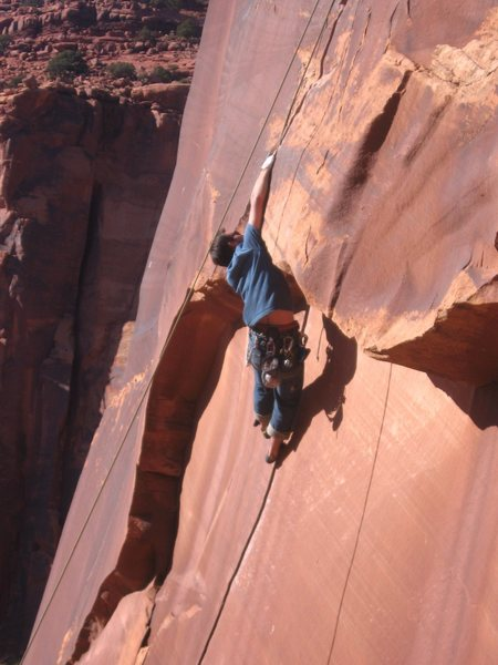 Rock Climbing Photo: ...then it gets hard.