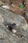 Rock Climbing Photo: Nicole kurth makes a clip from a funky rest... Jef...