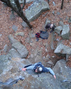 Rock Climbing Photo: Jeff in the crux...