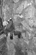 Rock Climbing Photo: Nicole on the lower section of SOTC...